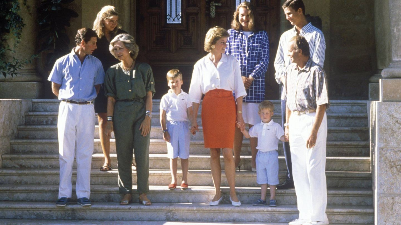 Una de las visitas de Diana y Carlos a Mallorca. (Cordon Press)