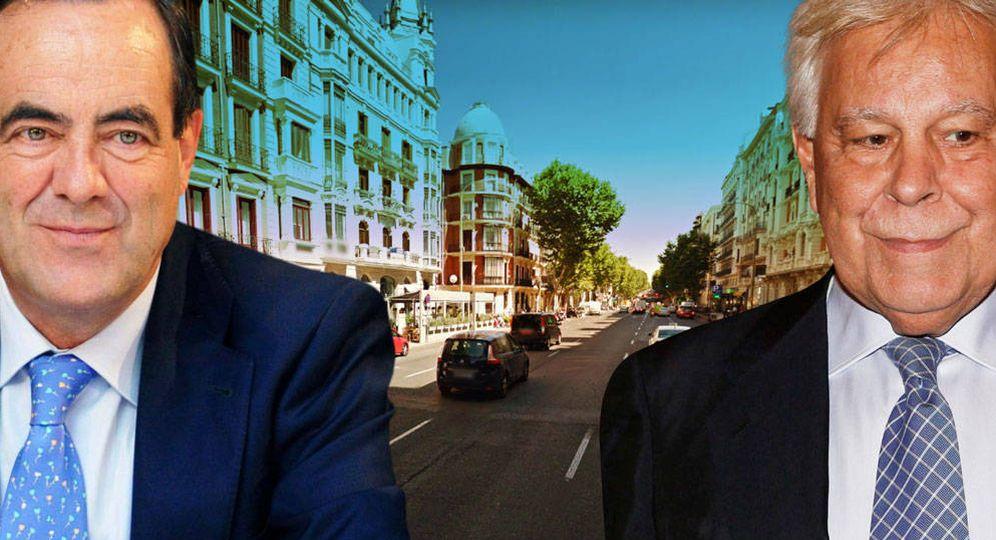 Foto: José Bono y Felipe González, vecinos y compañeros de partido. (Vanitatis)