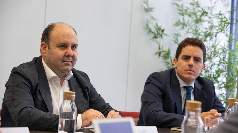 José Requena (izquierda), director de Cotronic; y Eduardo Prieto (derecha), director financiero de Hedonai.