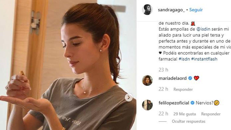 Feliciano pregunta a su novia si está nerviosa a través de IG.