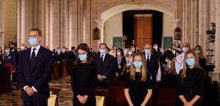 Post de Las razones de la no comunión de Felipe, Letizia, Leonor y Sofía en la misa funeral