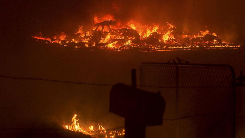 Incendios en el norte de California: un muerto y 25.000 hectáreas quemadas