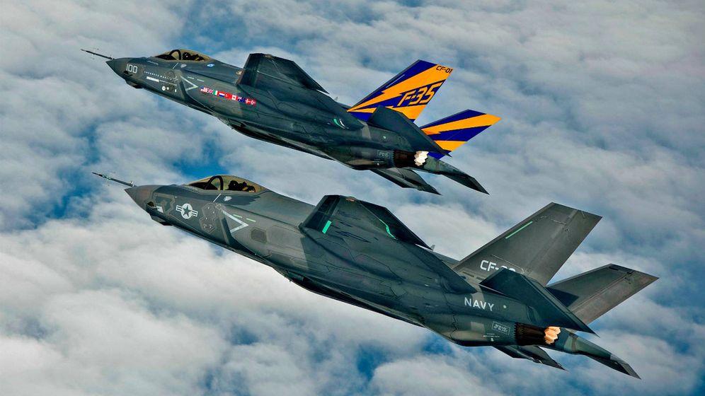 Foto: Dos F-35 en formación aérea