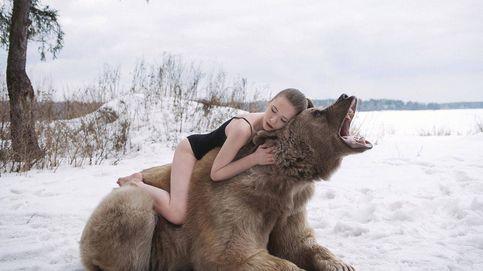 Retratos rusos: las oníricas fotos con osos, lobos y lechucas (reales)