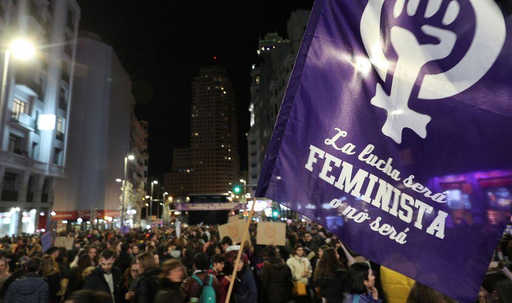 Foto: Participantes en la manifestación del 8-M de Madrid. (EFE)