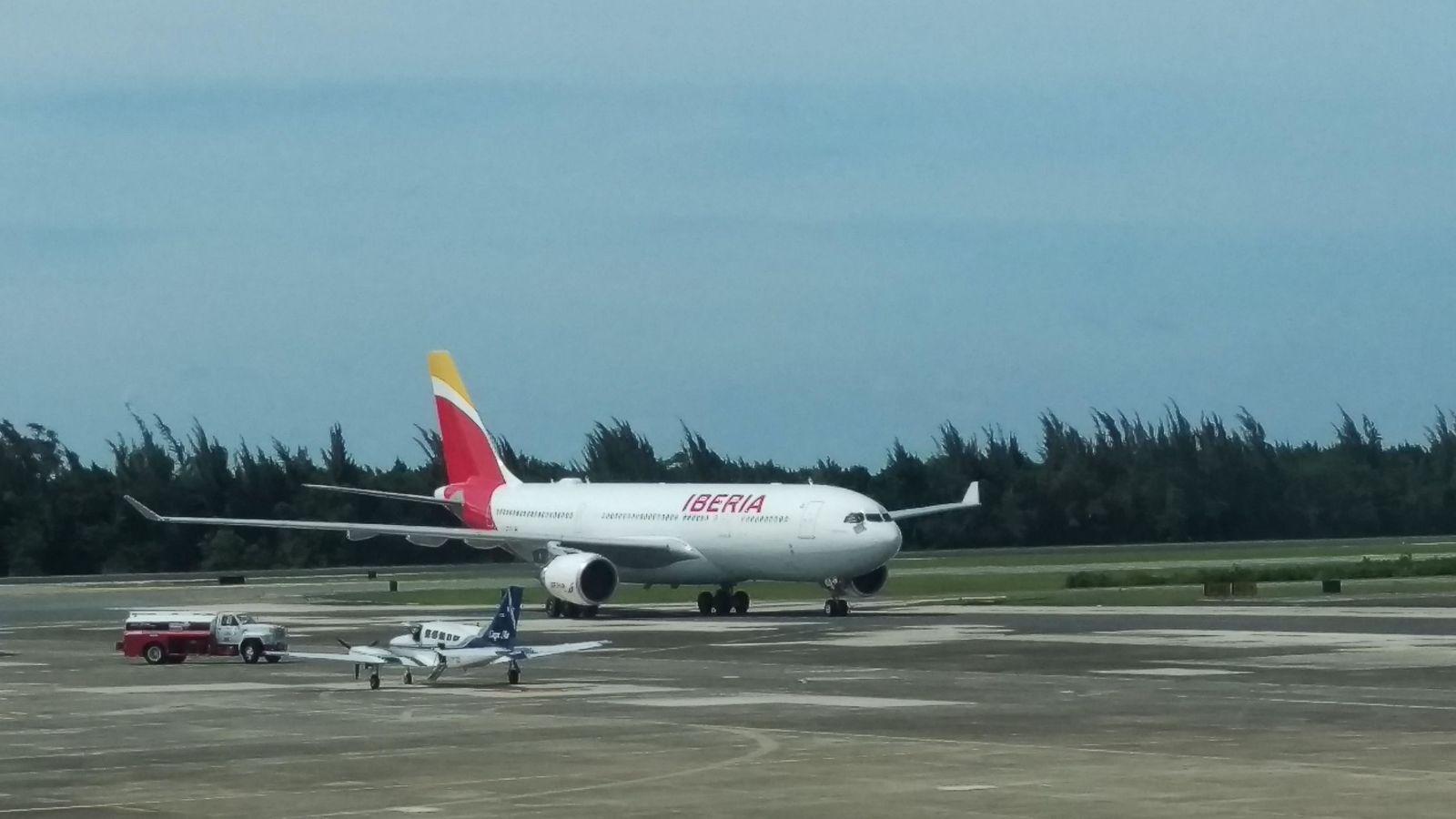 Foto: Avión de la aerolínea Iberia.