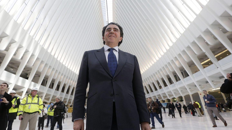 Santiago Calatrava en la inauguración del centro de transporte del World Trade Center de Nueva York. (EFE)