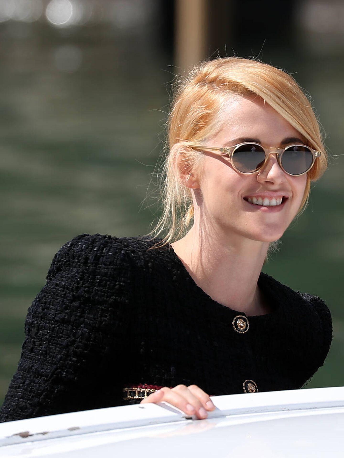 Detalle de las dos tonalidades en el cabello de Kristen Stewart. (Getty)