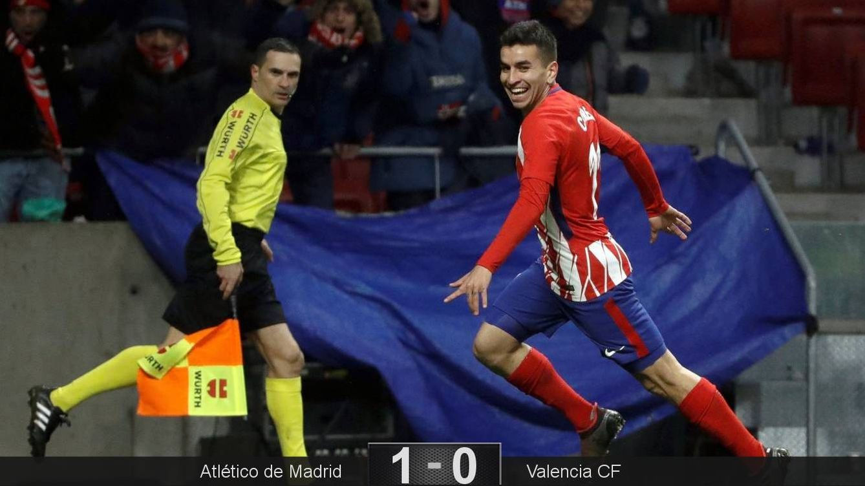Foto: Correa marcó el gol de la victoria del Atlético ante el Valencia. (EFE)