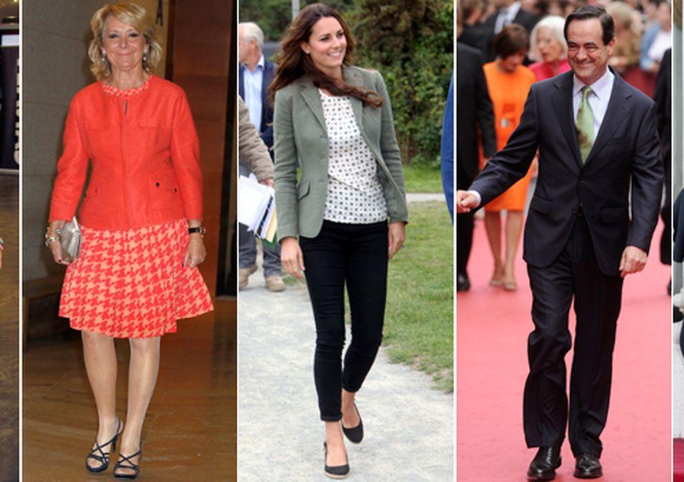 Foto: Caritina, Esperanza Aguirre, Kete Middleton, José Bono y François Hollande (I.C.)