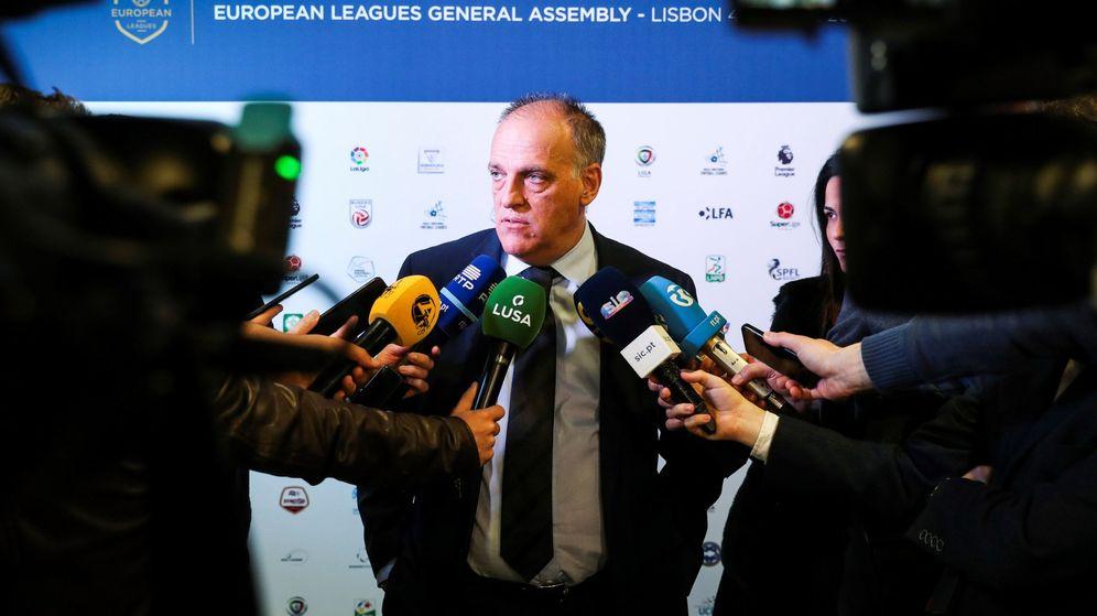 Foto: El presidente de La Liga, Javier Tebas. (EFE)