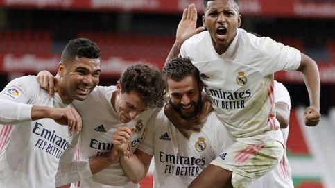 Un gol de Nacho deja al Real Madrid con la miel de la Liga en los labios (0-1)