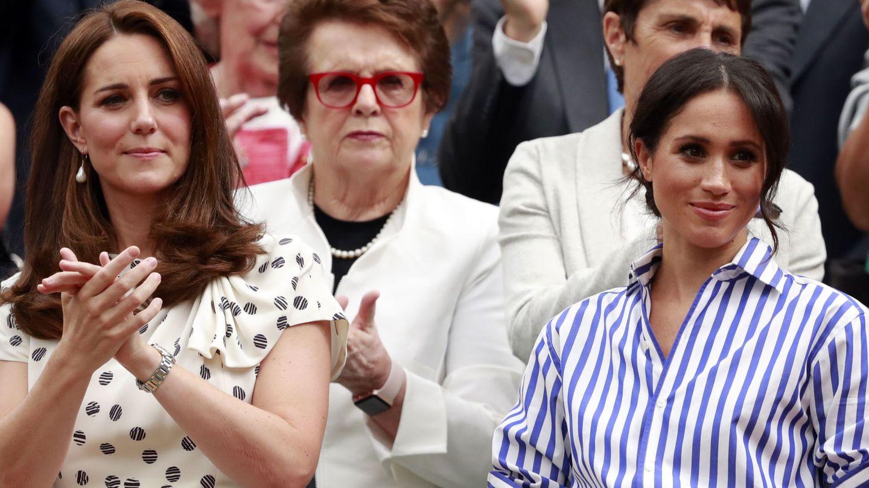 La duquesa de Cambridge y Meghan Markle. (Reuters)