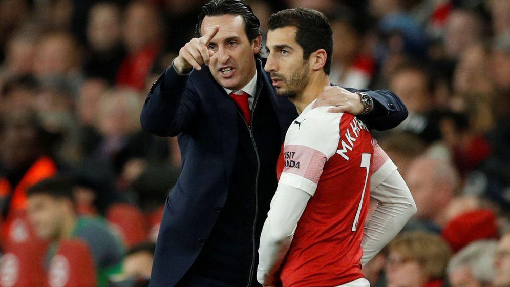 Foto: Emery no podrá contar con Mkhitaryan en la final de Bakú. (Reuters)