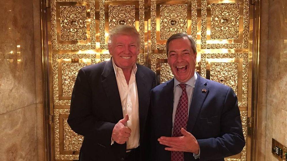 Foto: Donald Trump y Nigel Farage, durante su encuentro en la Trump Tower. (@Nigel_Farage)