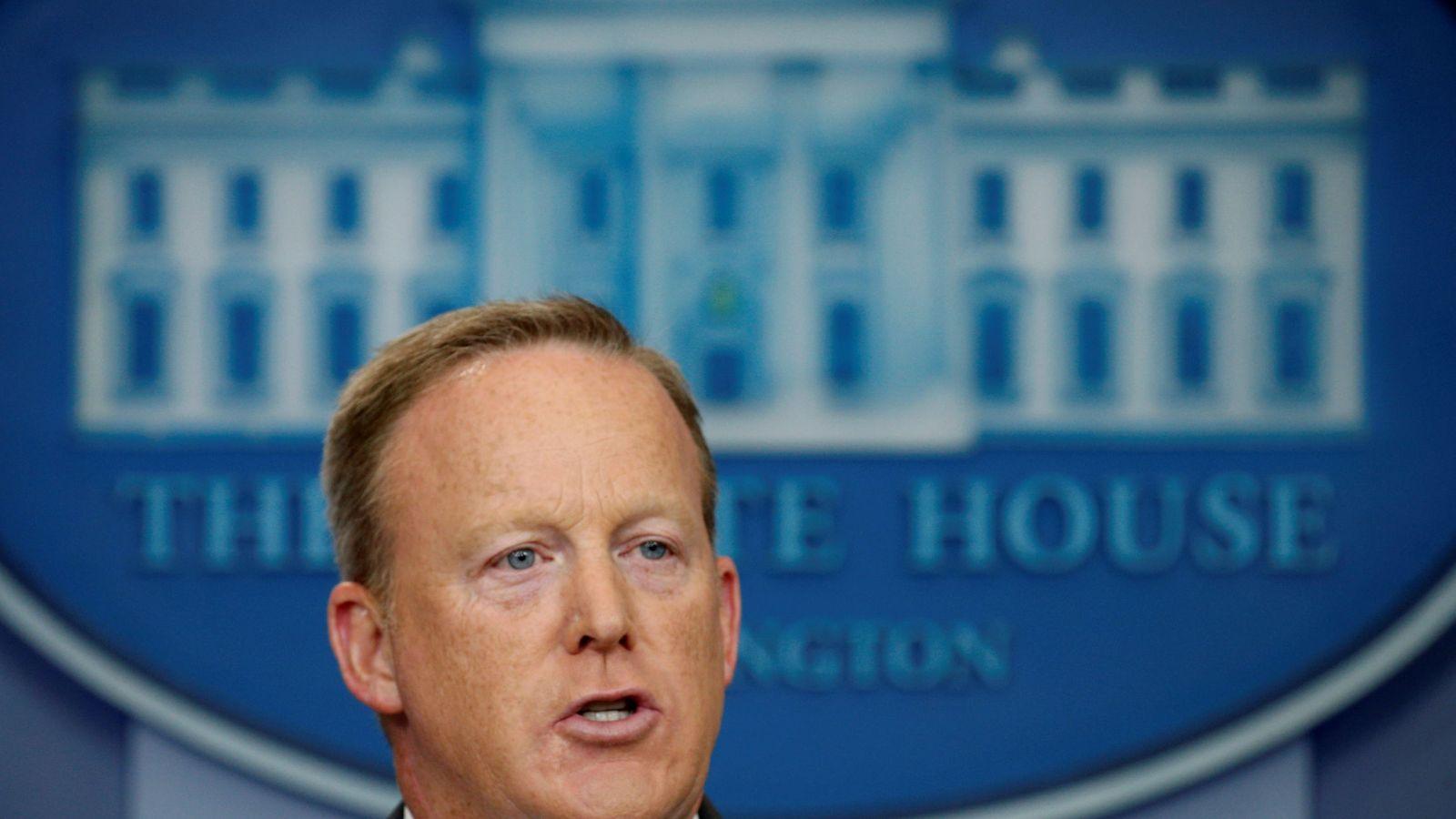 Foto: Sean Spicer, durante una rueda de prensa en la Casa Blanca, el pasado 17 de julio de 2017. (Reuters)