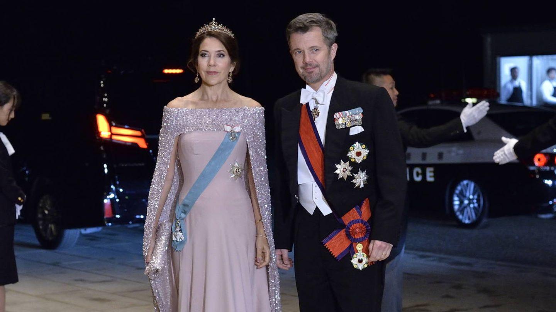 Federico y Mary de Dinamarca, en la coronación de Naruhito de Japón. (EFE)