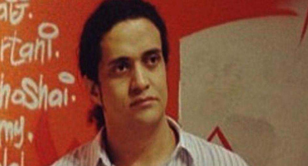 Foto: El poeta Ashraf Fayadh en un imagen de Youtube.