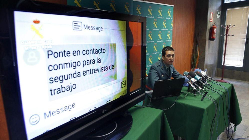 Foto: El comandante jefe del Grupo de Delitos Telemáticos de la Unidad Central Operativa (UCO) de la Guardia Civil. (EFE)