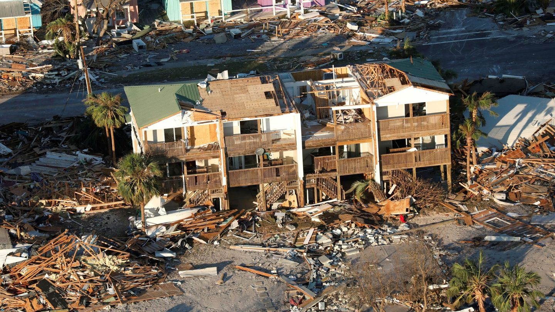 Destrozos provocados en Florida (EEUU) por el huracán Michael. (EFE)