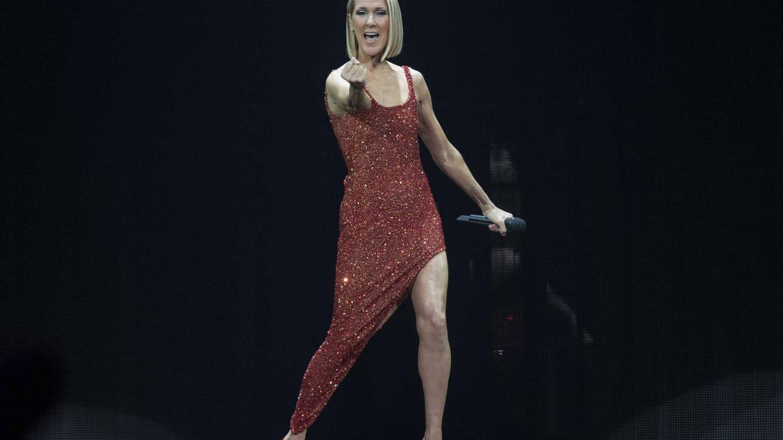 Céline, en uno de sus conciertos de la gira mundial. (Cordon Press)