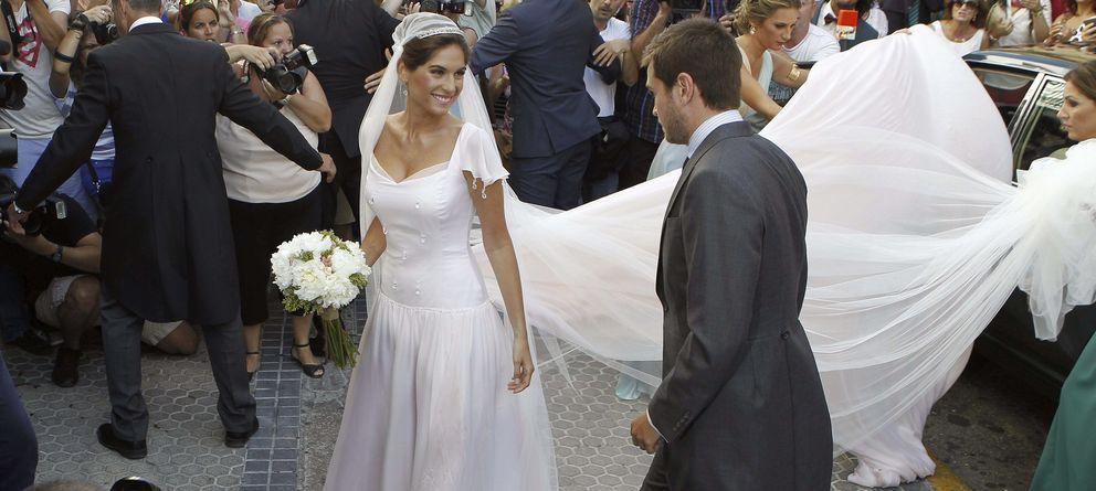 Foto: Lourdes Montes el pasado sábado, día de su boda en Triana (Gtres)