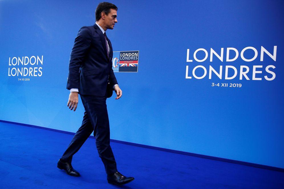 Foto: Pedro Sánchez, durante la cumbre de la OTAN en Watford, al noroeste de Londres, este 4 de diciembre. (Reuters)