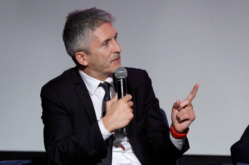 Foto: El ministro del Interior, Fernando Grande-Marlaska, este 14 de noviembre en la presentación de un documental en Madrid. (EFE)