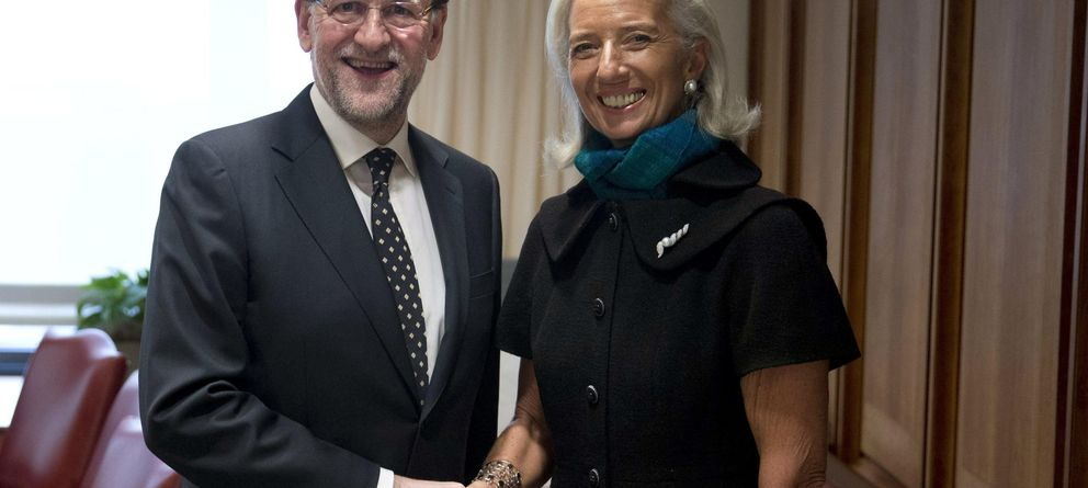 Foto: Mariano Rajoy con la directora gerente del FMI, Christine Lagarde. (EFE)