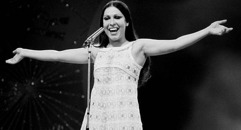Foto: La cantante Massiel en una imagen de su actuación en Eurovisión 1968.
