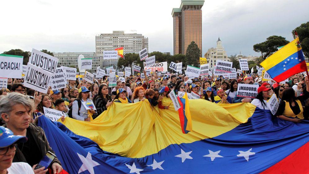 Foto: Concentración de venezolanos en Madrid. (EFE)