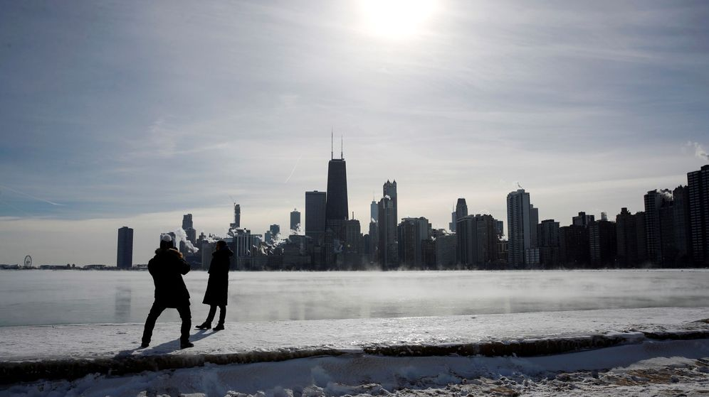 Foto: El frío ha congelado el Lago Michigan y ha dejado Chicago con temperaturas por debajo de 40 bajo cero