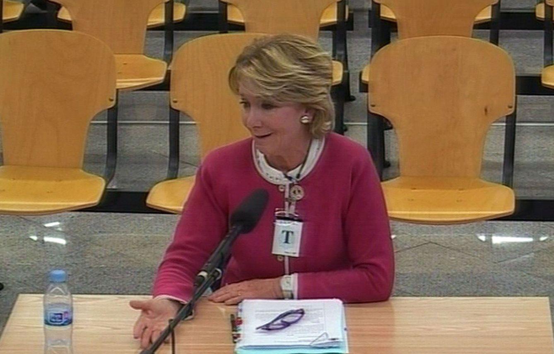 Foto: Esperanza Aguirre comparece como testigo en el macrojuicio de Gürtel. (Efe)