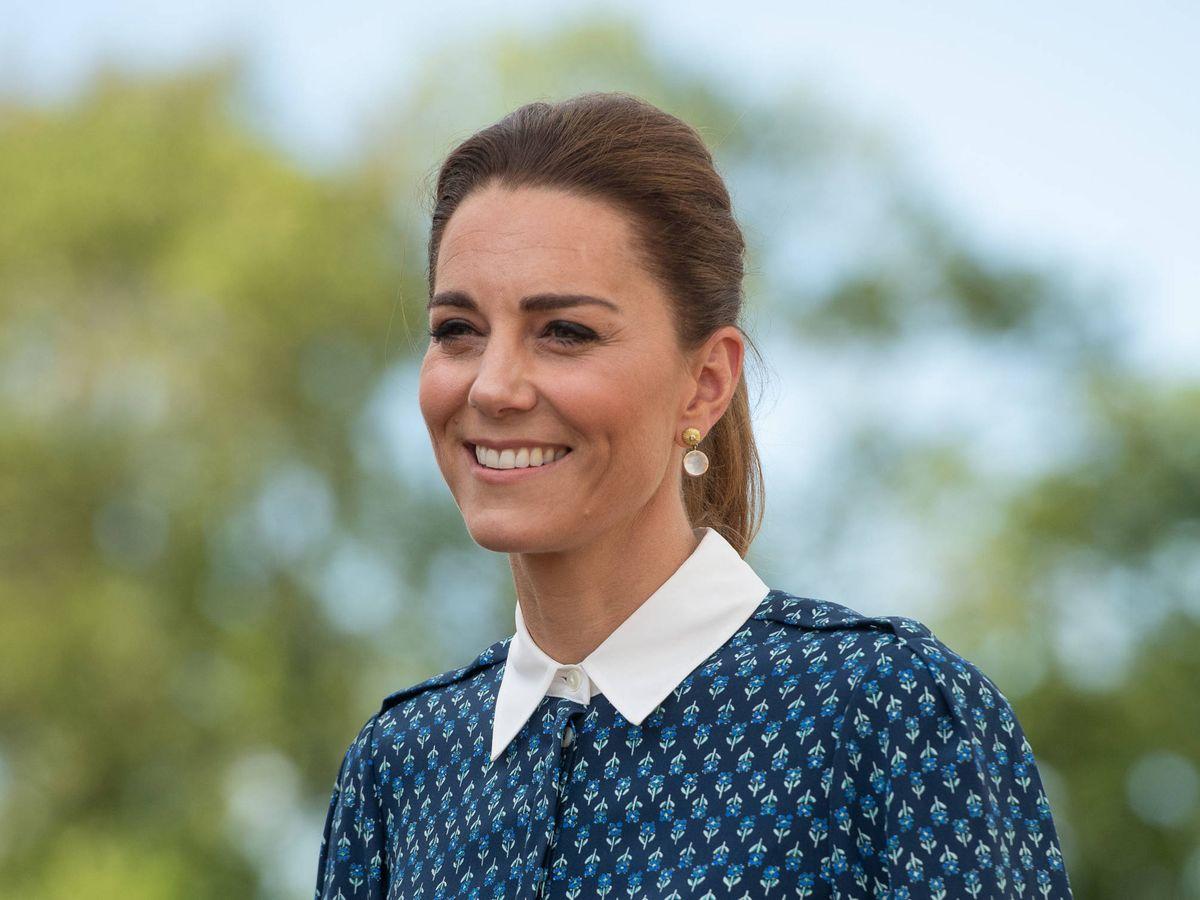 Foto: Kate Middleton, con su nueva coleta. (Getty)