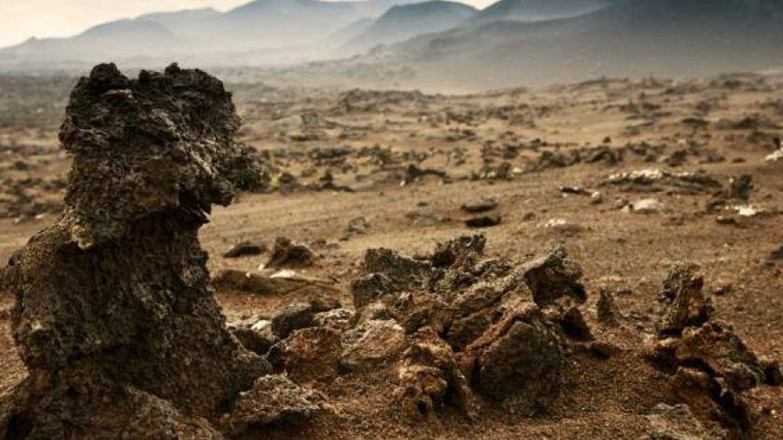 Formaciones volcánicas en Timanfaya, Lanzarote.
