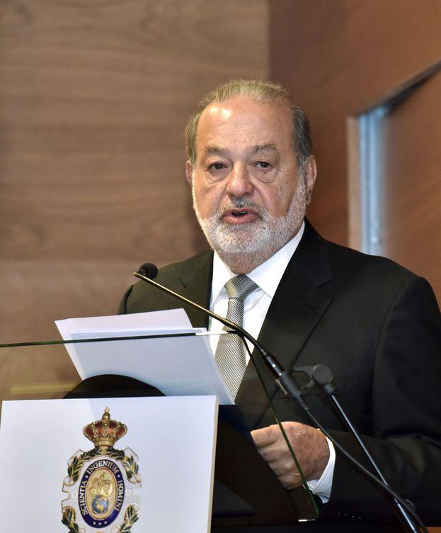 Foto: Carlos Slim, en un acto académico. (EFE)