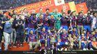 El reinado de Messi no tiene fin y lleva al Barcelona a su tercera Copa seguida