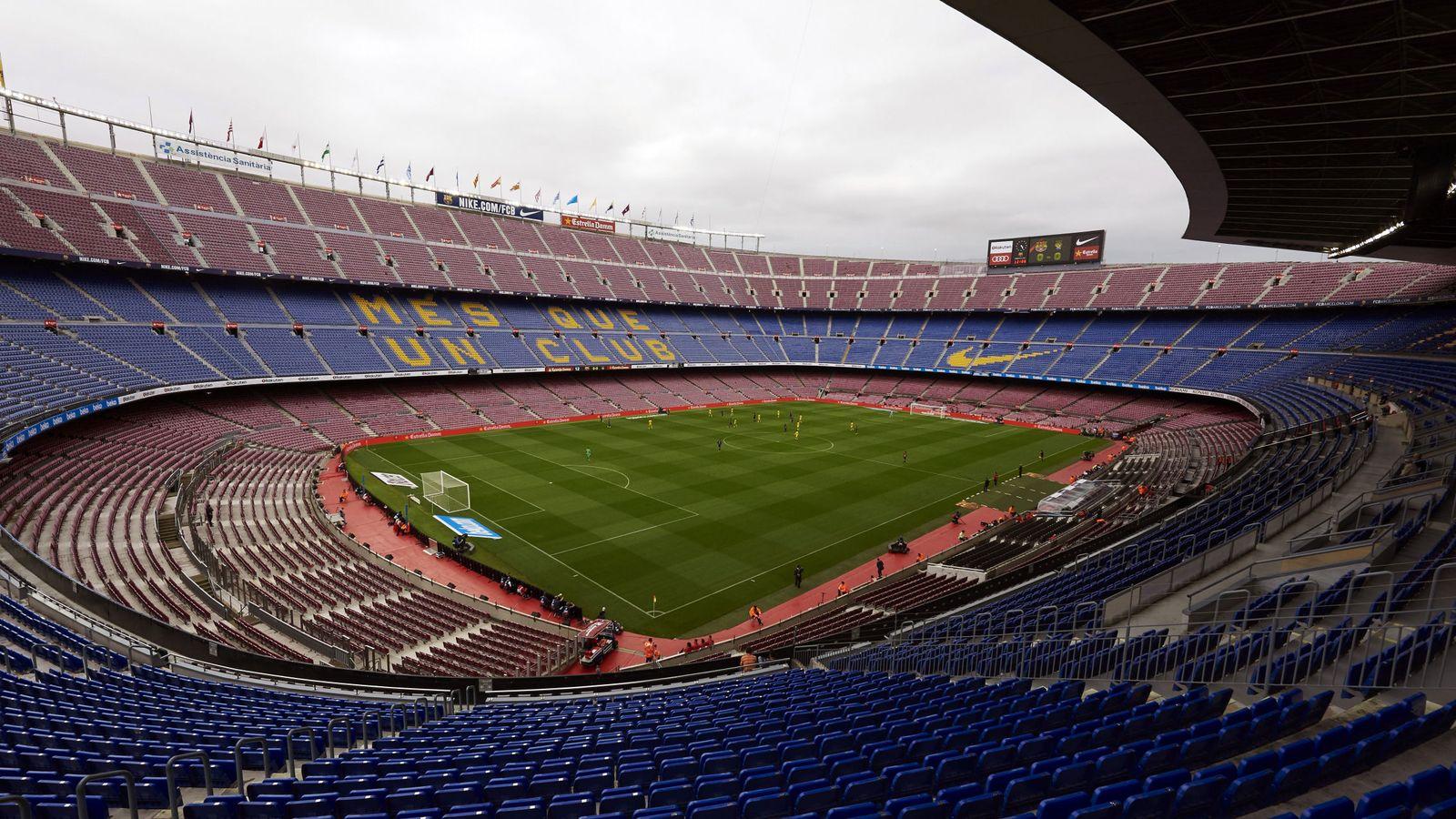 Foto: Vista general del Camp Nou. (EFE)