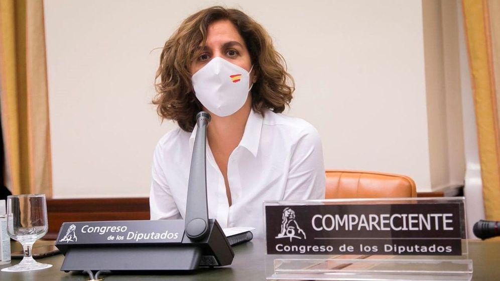 Foto: La presidenta del Consejo Superior de Deportes (CSD), Irene Lozano, en la Comisión de Cultura y Deporte del Congreso de los Diputados. (EFE)