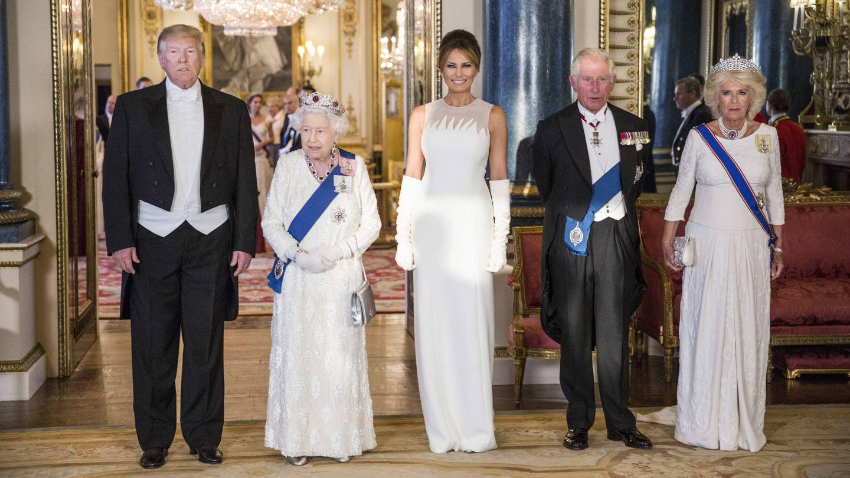 Una imagen de la visita de Trump a Buckingham Palace. (Getty)