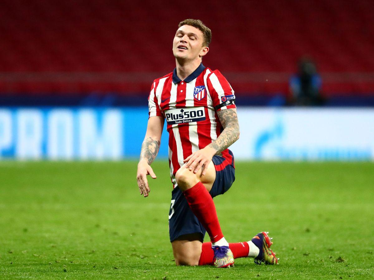 Foto: Trippier, en un partido reciente del Atlético. (Reuters)