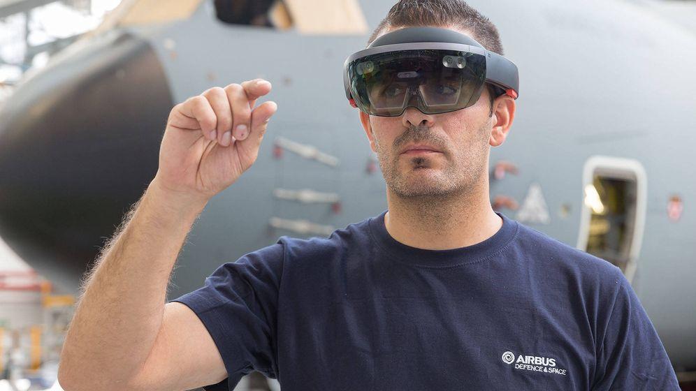 Foto: Las gafas de realidad aumentada (ya sean Google Glass o Hololens) son esenciales para este proyecto. (Airbus)