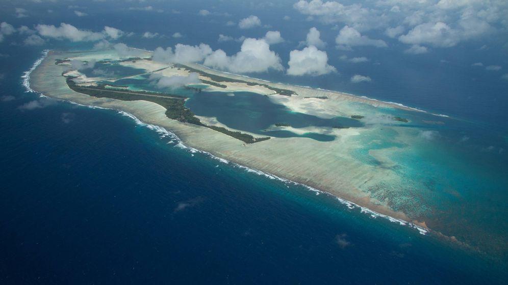 Foto: Imagen aérea del atolón de Palmyra. (CC/wikimedia Commons)