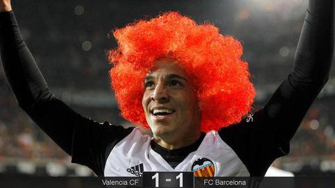 Un buen Valencia y un mal árbitro frenan la racha ganadora del Barcelona