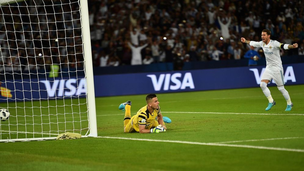 Foto: Sergio Ramos celebra el gol de Cristiano en la final del Mundial. (Reuters)