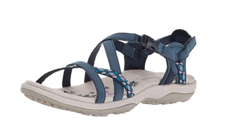 Sandalias Skechers Reggae Slim-Vacay, sandalias de talón abierto para mujer