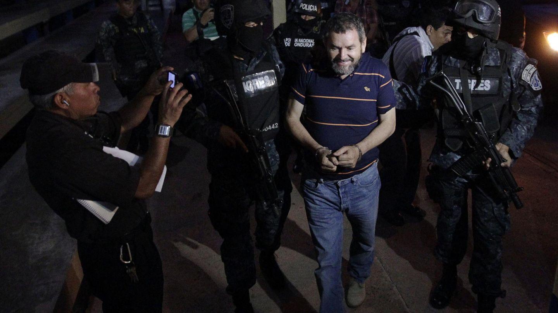La Policía hondureña detiene al líder del Cartel de los Valles, Luis Alonso Valle Valle. (Reuters)