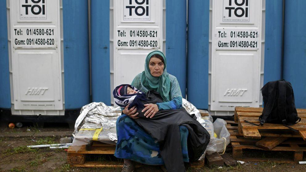 Cerca de 10.000 refugiados siguen varados en Serbia sin comida ni abrigo