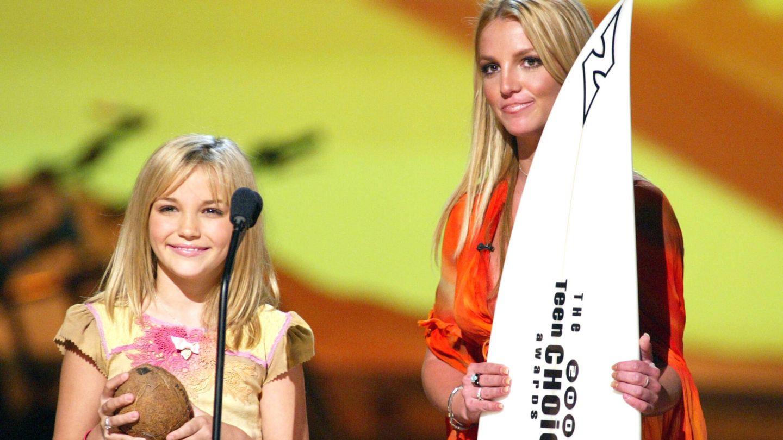 Jamie Lynn y Britney Spears, en una imagen de 2002. (Getty)