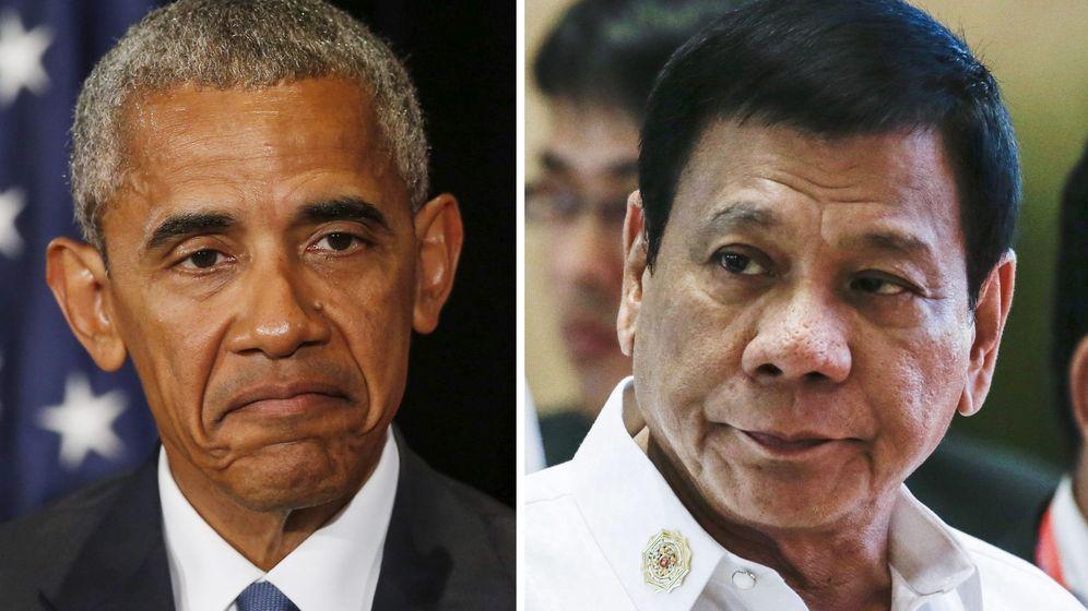 Foto: El presidente Barack Obama durante la cumbre del G20, junto a Rodrigo Duterte (EFE)